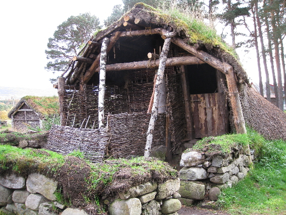 The corn-drying         kiln at The Highland Folk Park