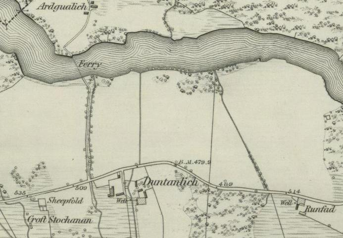 Map showing Croftstockan, Runfad and Duntaulich